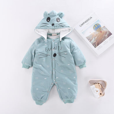 Hooded Cartoon Jumpsuit