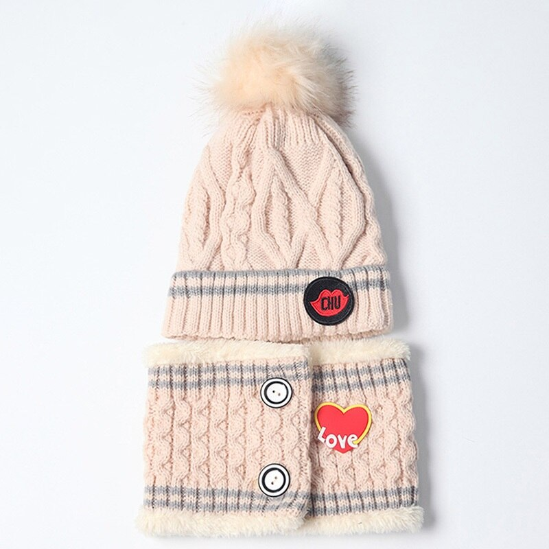 Embroidered Hat and Neck Warmer Set