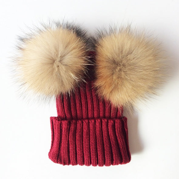 Double Bobble Hat for Girls