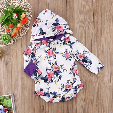 Floral Hooded Romper