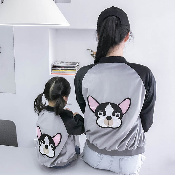 Bulldog Mommy and Me Jacket