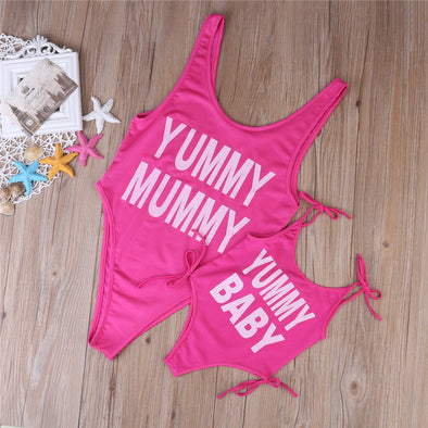 Mother & Daughter Pink Swimwear