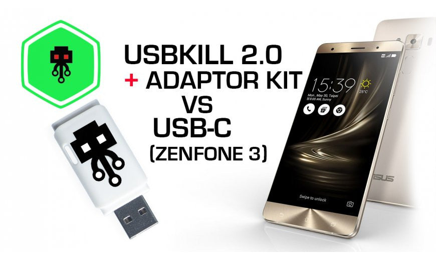USB Kill 2.0 VS USB-C (Zenphone 3)