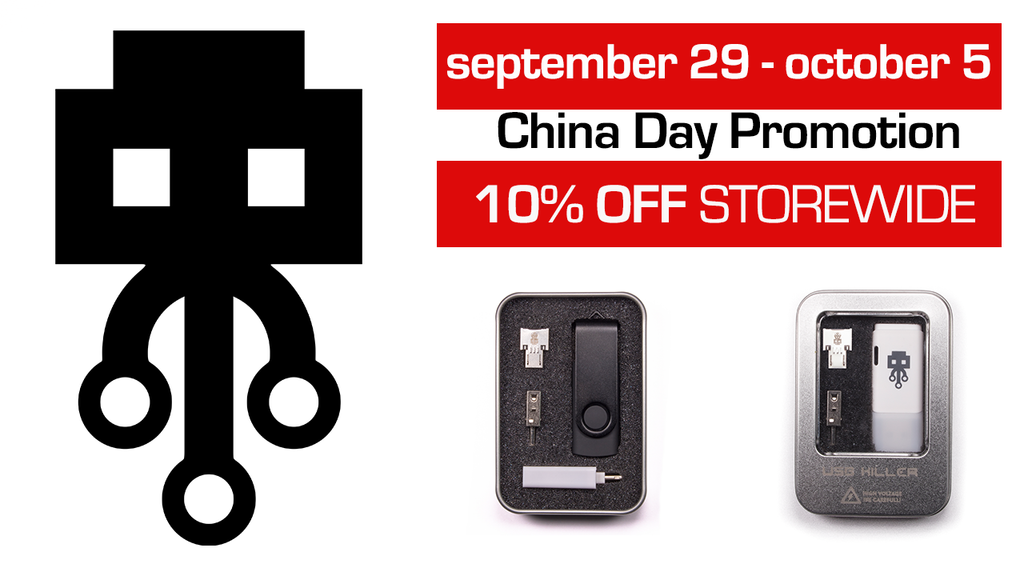 USBKILL China Day promotion! 10% OFF storewide . nov 29 - oct 5