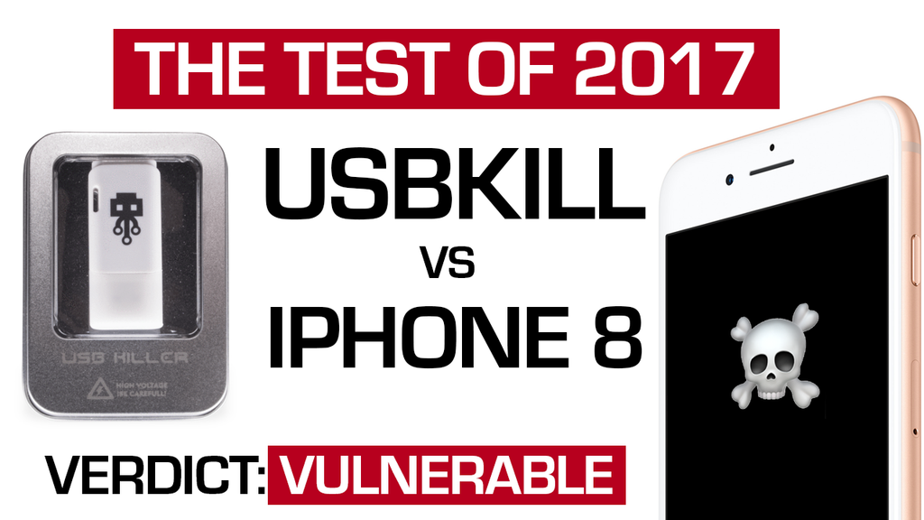 Ultimate showdown: USB Kill vs iPhone 8