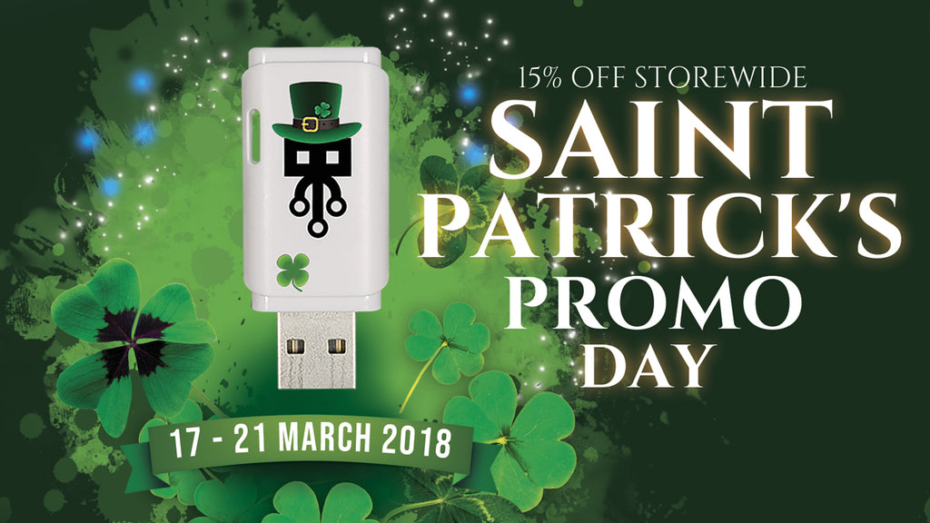 St-Patrick's day promo ! 15% OFF storewide . Until March 21st