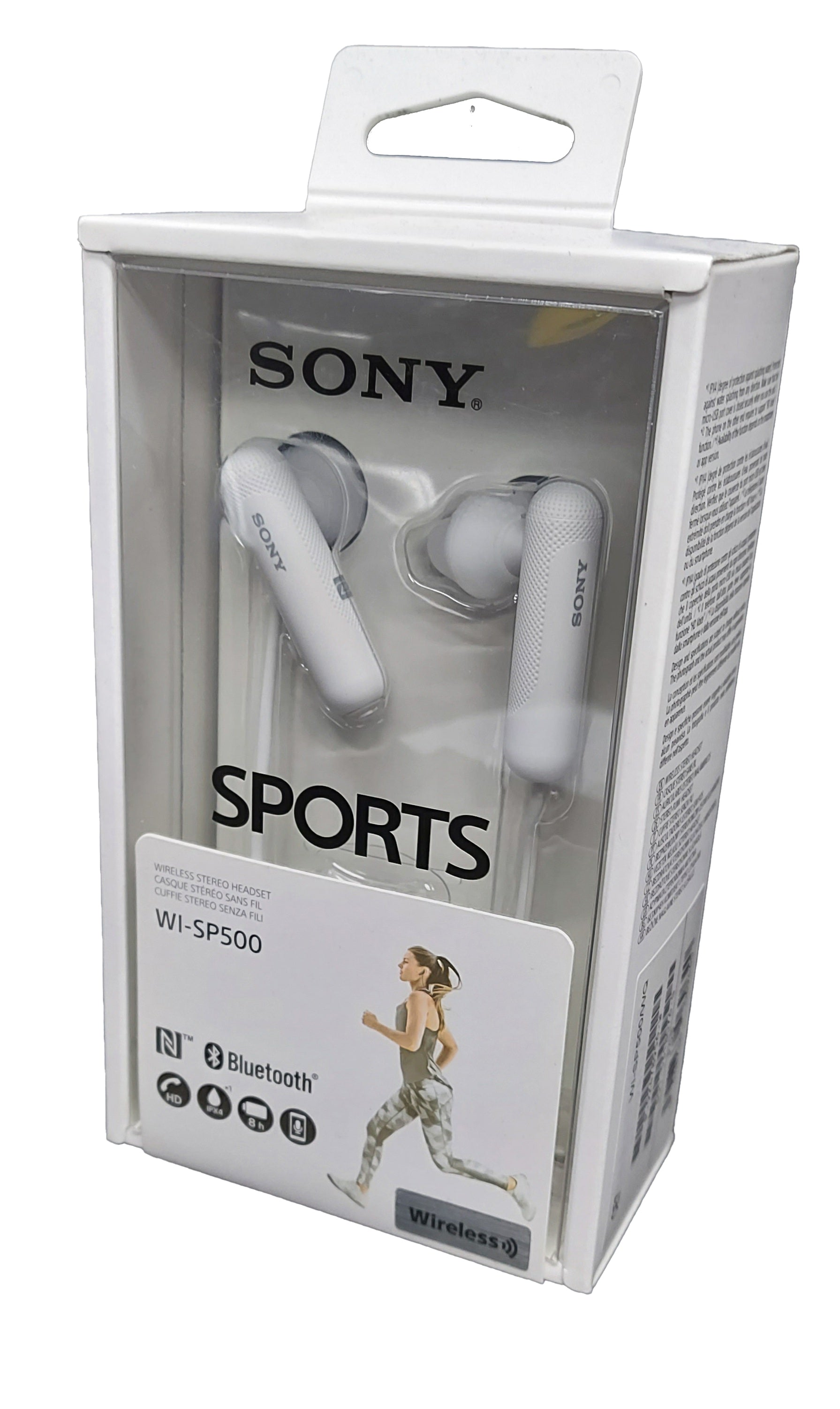 Sony WI-SP500 White In-Ear Only Headsets Wireless Stereo Headset HD Call