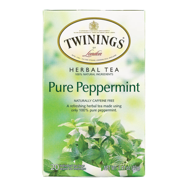 Twinings Tea Jacksons of Piccadilly Tea - Pure Peppermint - Case of 6 - 20 Bags