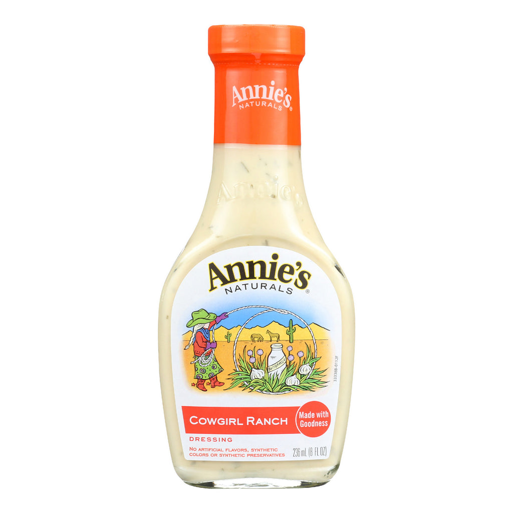 Annie's Naturals Dressing Cowgirl Ranch - Case of 6 - 8 fl oz.