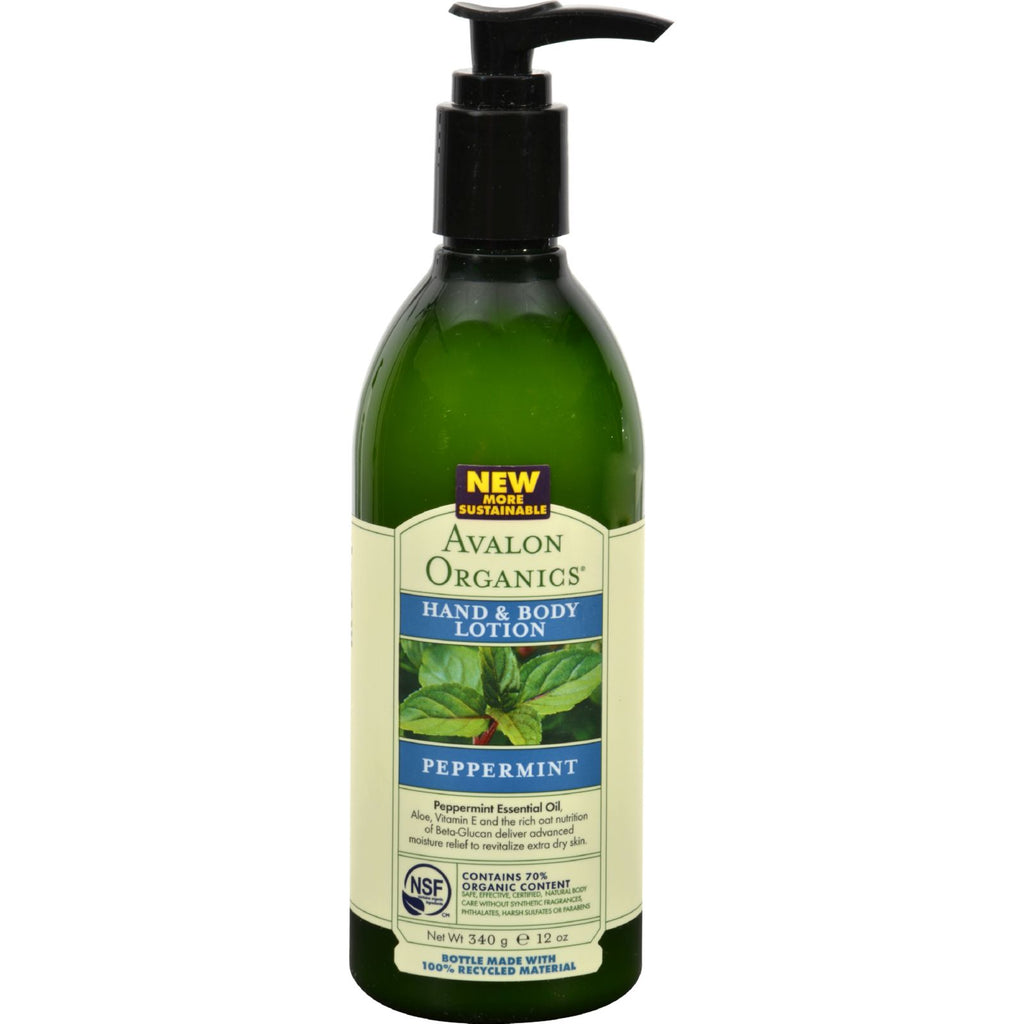 Avalon Organics Hand and Body Lotion Peppermint - 12 fl oz