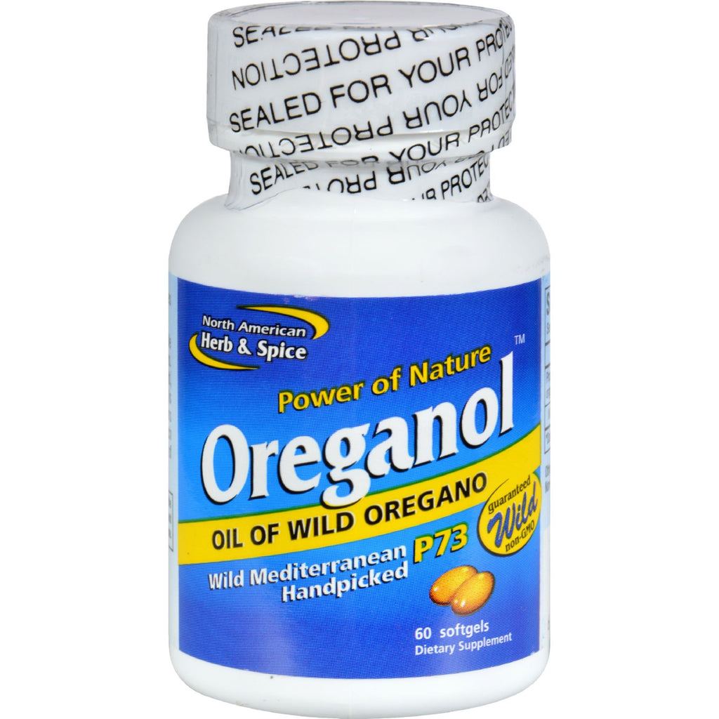 North American Herb and Spice Oreganol Oil of Wild Oregano - 60 Gelatin Capsules