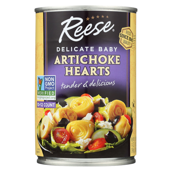 Reese Artichoke Hearts - Delicate Baby - Case of 12 - 14 oz.