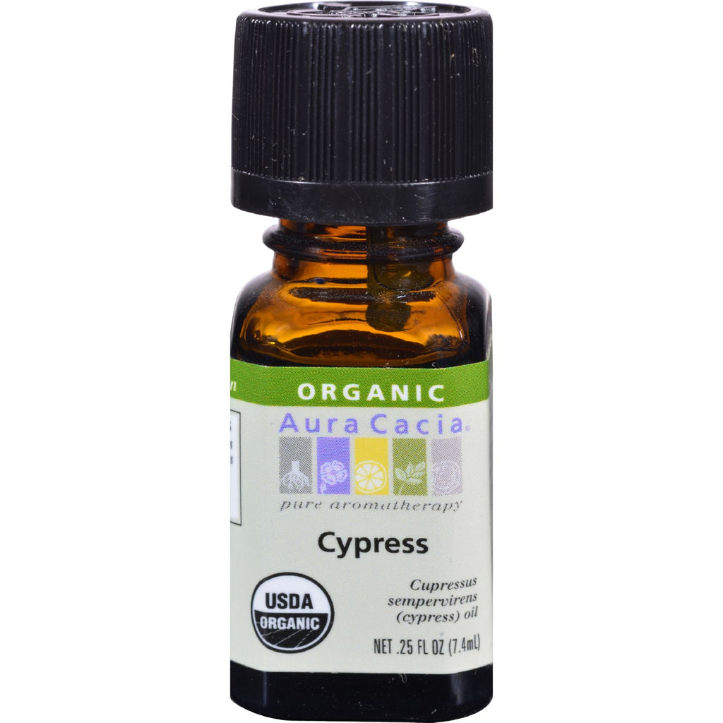 Aura Cacia Organic Essential Oil - Cypress - .25 oz