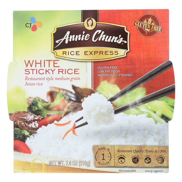 Annie Chun's Rice Express White Sticky Rice - Case of 6 - 7.4 oz.