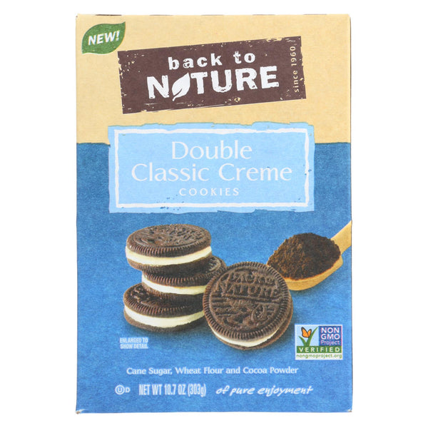 Back To Nature Cookies - Double Classic Creme - Case of 6 - 10.7 oz