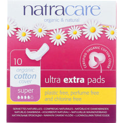 Natracare  Ultra Extra Pads w/wings - Super - 10 Count