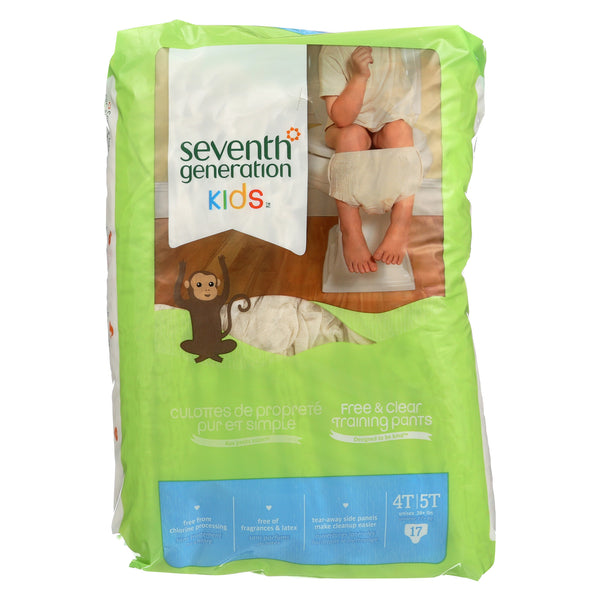 Seventh Generation Free and Clear Training Pants - 4T - 5T - Case of 4 - 17 Count