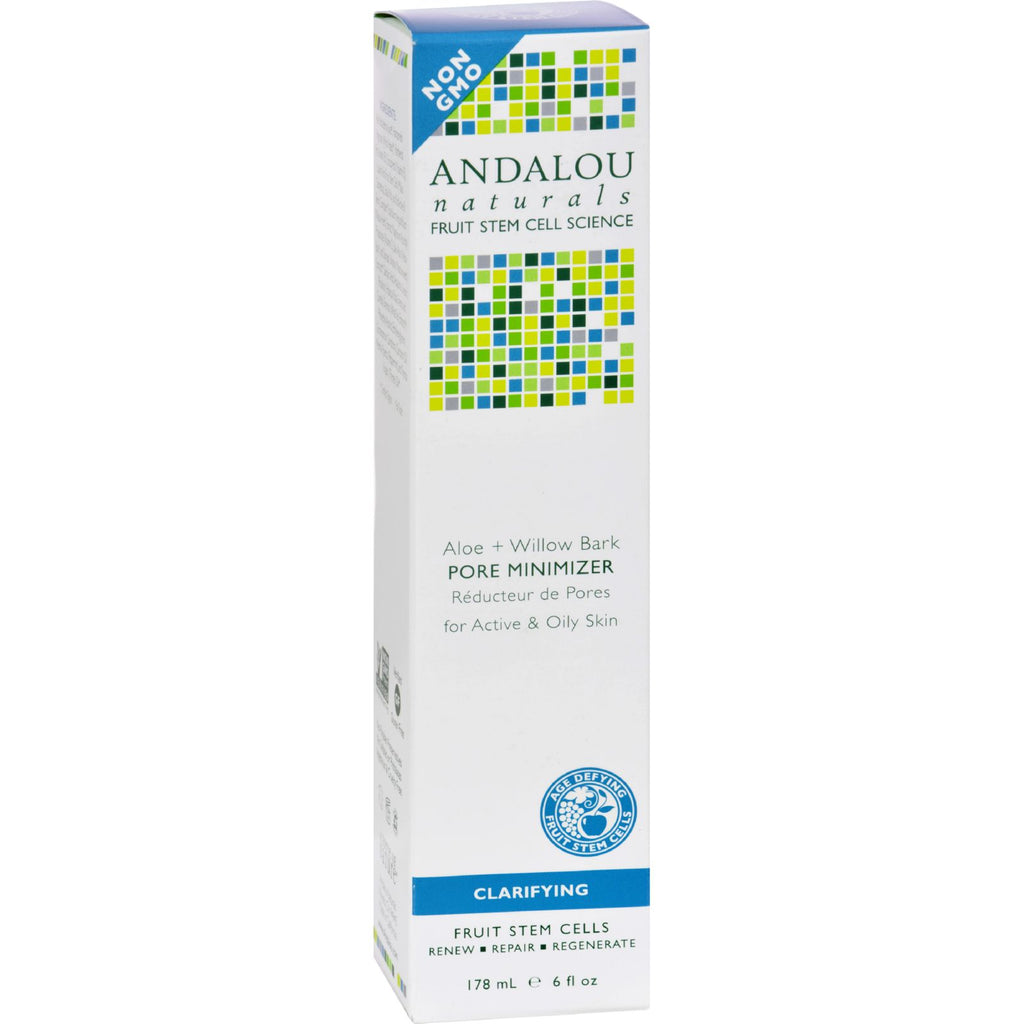 Andalou Naturals Clarifying Aloe plus Willow Bark Pore Minimizer - 6 fl oz