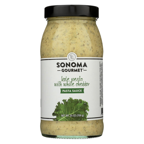 Sonoma Gourmet All Natural Pasta Sauce - Kale Pesto with White Cheddar - Case of 6 - 25 oz.