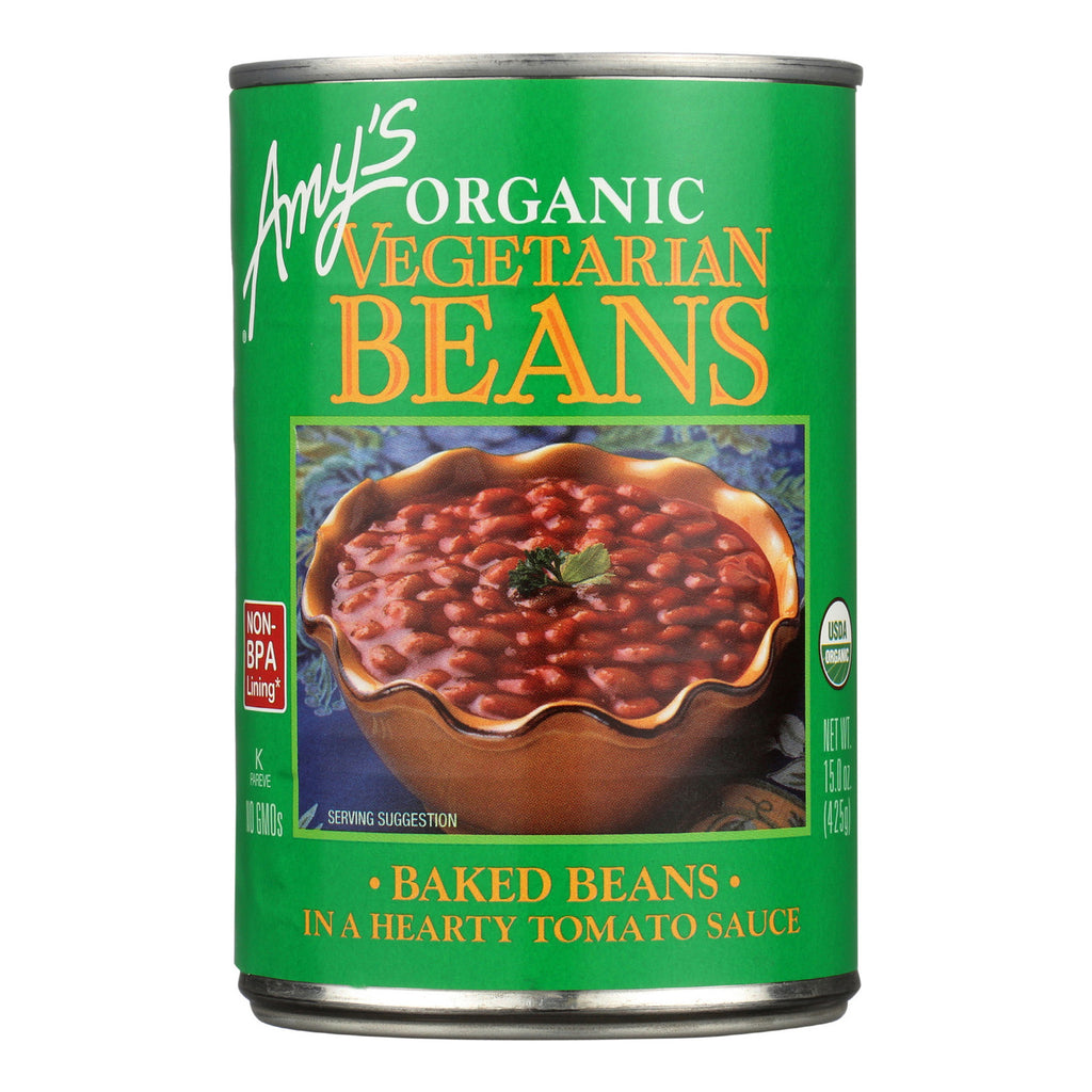 Amy's Organic Vegetarian Baked Beans - Case of 12 - 15 oz.