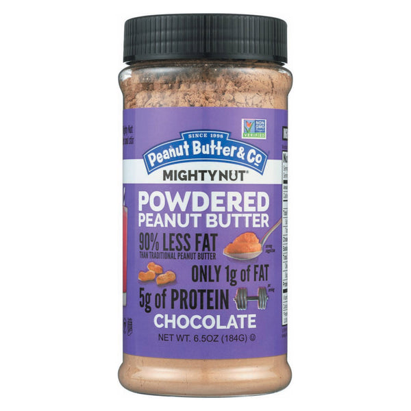 Peanut Butter and Co Mighty Nut Powdered - Chocolate - Case of 6 - 6.5 oz.