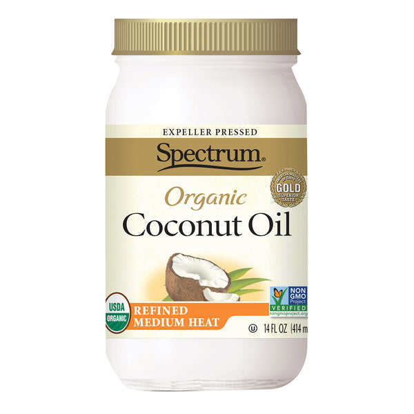 Spectrum Naturals Organic Coconut Oil - Refined - Case of 6 - 14 fl oz