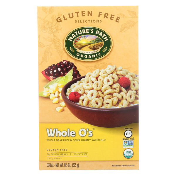 Nature's Path Organic Whole O's Cereal - Case of 12 - 11.5 oz.