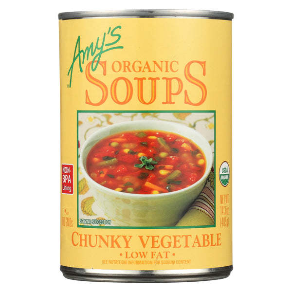 Amy's - Organic Chunky Vegetable Soup - Case of 12 - 14.3 oz