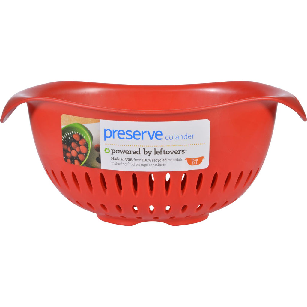 Preserve Small Colander - Red - Case of 4 - 1.5 qt