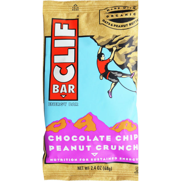 Clif Bar - Organic Chocolate Chip Peanut Butter Crunch - Case of 12 - 2.4 oz