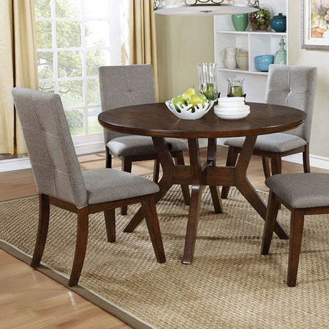 Home Roots - Mid-Century Modern Round Dining Table, Walnut