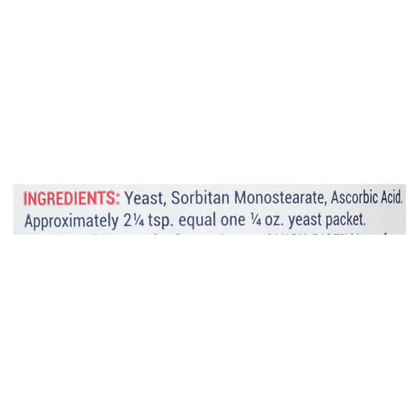 Red Star Nutritional Yeast Quick Rise - Case of 12 - 4 oz