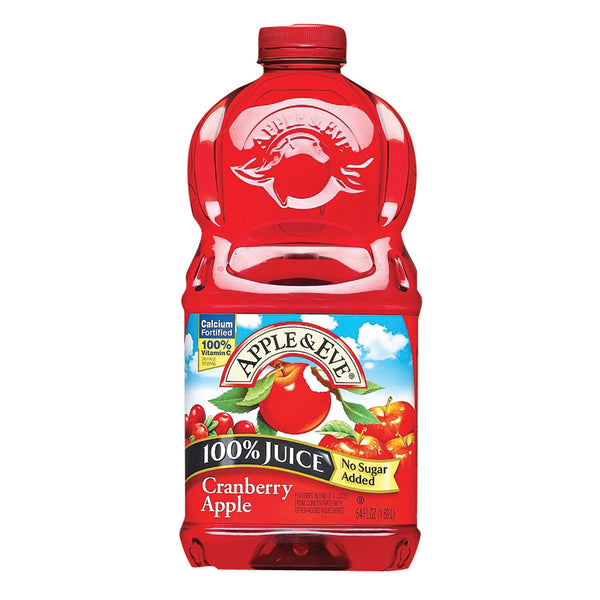 Apple and Eve 100 Percent Juice - Cranberry Apple - Case of 8 - 64 Fl oz.