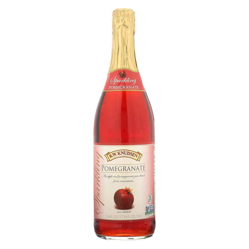 R.W. Knudsen Sparkling Juice - Pomegranate - Case of 12 - 750 ml