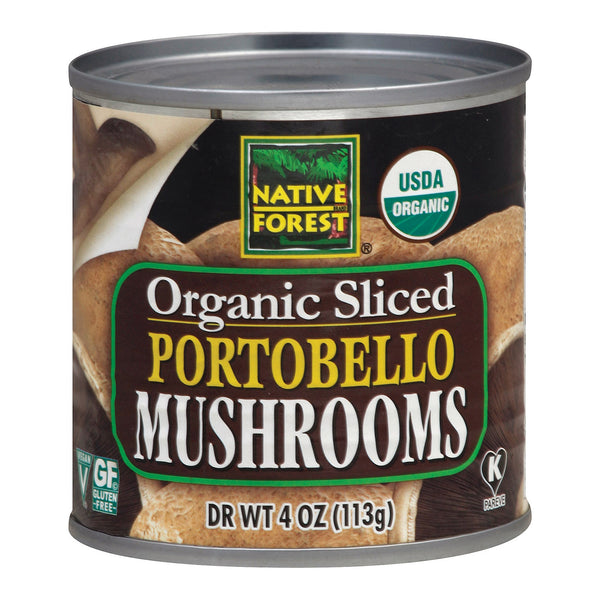 Native Forest Organic Sliced Portobello - Mushrooms - Case of 12 - 4 oz.