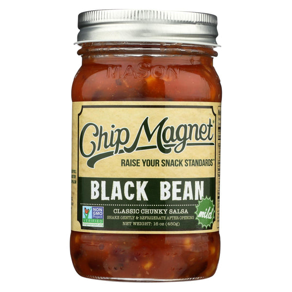 Chip Magnet Salsa Sauce Appeal - Salsa - Black Bean - Case of 6 - 16 oz.