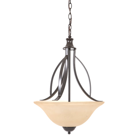 113-3B-ORB Oil Rubbed Bronze  Steel  Three Lights Pendant Tioga Pass Collection