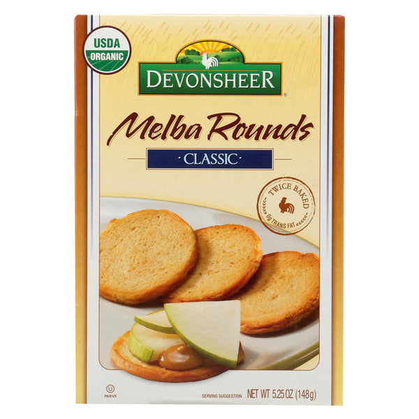 Devonsheer - Organic Plain Melba Rounds - Case of 12 - 5.25 oz.