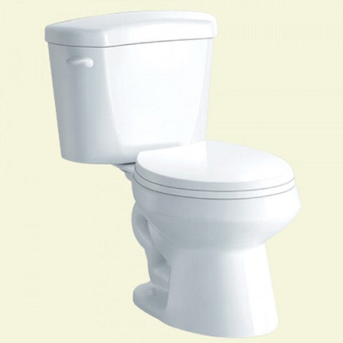 YPDF08L-WH White Ceramic Siphonic Toilet Siphonic Two Piece Toilet