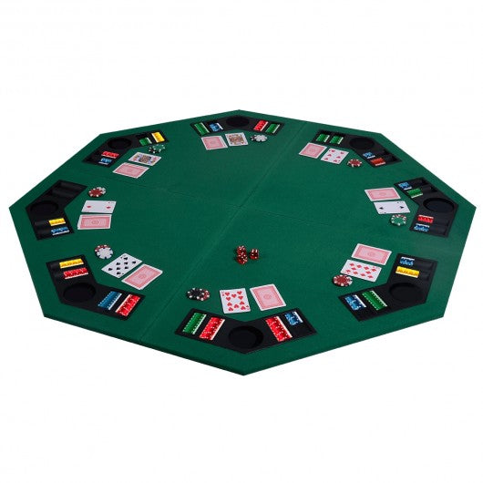 48'' 8 Players Octagon Fourfold Poker Table Top - TY318693