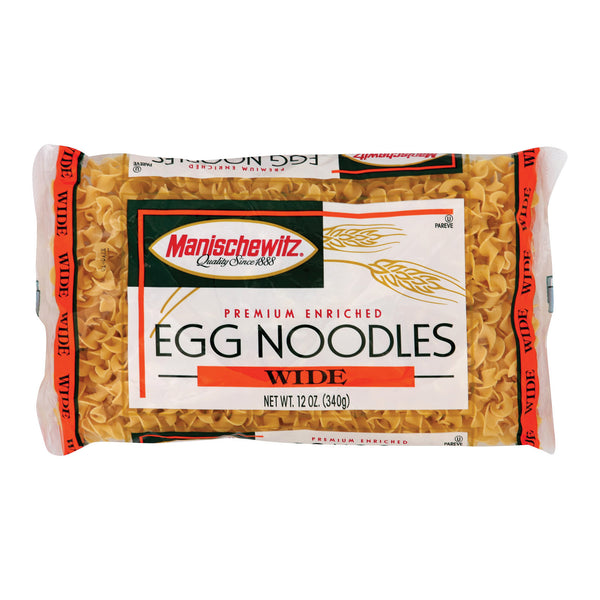 Manischewitz - Egg Noodles Broad - Case of 12 - 12 oz.