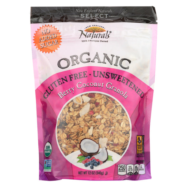 New England Naturals Organic Granola Select Berry - Coconut - Case of 6 - 12 oz.