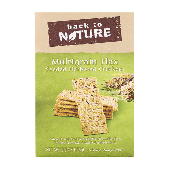 Back To Nature Multigrain Flax Seeded Flatbread Crackers - Case of 6 - 5.5 oz.