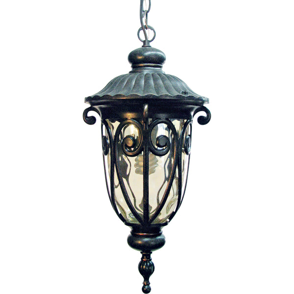 FL519MHORB Oil-Rubbed Bronze  Steel/Gold Stone Viviana Collection Nine-Inch Fluorescent Hanging  Viviana Collection