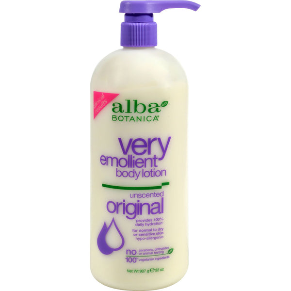 Alba Botanica Very Emollient Body Lotion Unscented - 32 fl oz