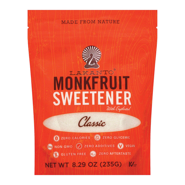 Lakanto - Monkfruit Sweetener - Case of 8 - 8.29 oz.