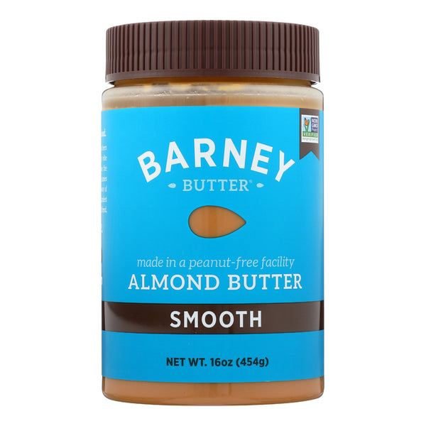 Barney Butter Almond Butter - Smooth - Case of 6 - 16 oz.