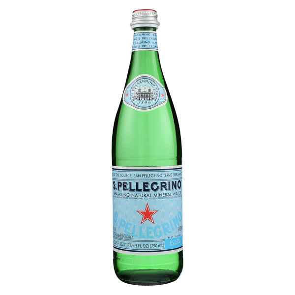 San Pellegrino Sparkling Mineral Water - Natural - Case of 12 - 750 ml