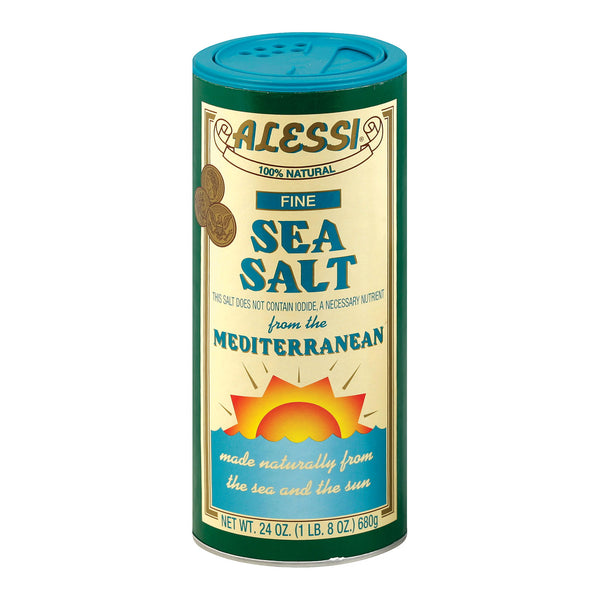 Alessi - Mediterranean Sea Salt - Fine - Case of 6 - 24 oz.