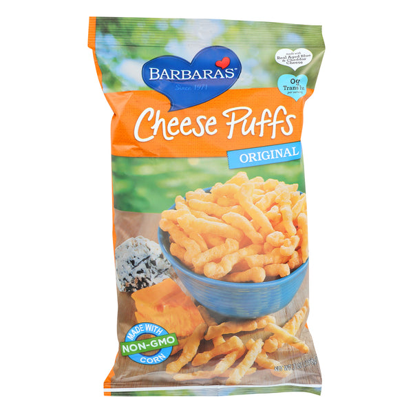 Barbara's Bakery Baked Cheese Puffs - Original - Case of 12 - 7 oz.